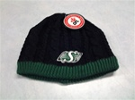 Saskatchewan Riders Ladies Black Cable Knit Beanie