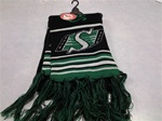 Saskatchewan Riders Black Knit Scarf