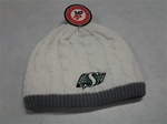 Saskatchewan Riders Ladies White Cable Knit Beanie