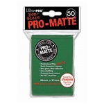 Ultra Pro 50ct Pro Matte Green Sleeves
