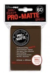 Ultra Pro 60ct Pro Matte Brown Sleeves