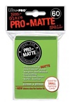 Ultra Pro 60ct Pro Matte Lime Green Sleeves