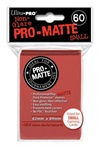Ultra Pro 60ct Pro Matte Red Sleeves